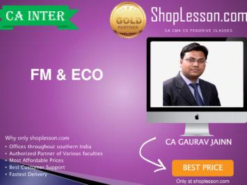 CA Intermediate FM & Eco Regular Course By CA Gaurav Jainn For Nov 2020 Onwards Video Lecture + Study Material