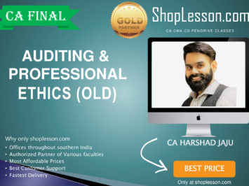 CA Final Old Syllabus Audit Regular Course By CA Harshad Jaju For May 2020 & Nov 2020 Video Lecture + Study Material