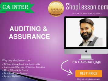 CA Intermediate Audit Regular Course By CA Harshad Jaju For Nov 2020 Onwards Video Lecture + Study Material
