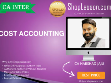 CA Intermediate Cost Accounting Regular Course By CA Harshad Jaju For Nov 2020 Onwards Video Lecture + Study Material