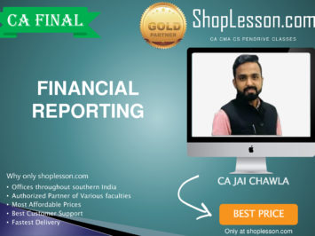 CA Final New Syllabus Financial Reporting Regular Course By CA Jai Chawla For May 2020 & Nov 2020 Video Lecture + Study Material