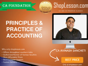 CA Foundation Principles And Practice of Accounting By Avinash Sancheti For Nov 2020 Onwards Video Lecture + Study Material