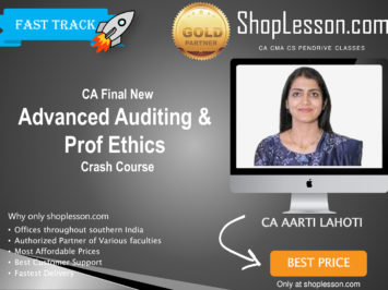 CA Final New Syllabus Audit Crash Course By CA Aarti Lahoti For May 2020 & Nov 2020 Video Lecture + Study Material