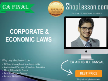 CA Final New Syllabus Corporate & Economic Laws By CA Abhishek Bansal For May 2020 & Nov 2020 Video Lecture + Study Material