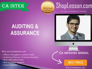 CA Intermediate  Audit By CA Abhishek Bansal For Nov 2020 Onwards Study Material