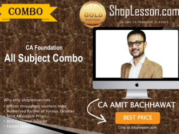 CA Foundation All Subject Combo By Amit Bachhawat Sir For Nov 2020 Onwards Video Lecture + Study Material