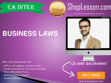 CA Foundation Business Law Regular Course By Amit Bachhawat For Nov 2020 Onwards Video Lecture + Study Material