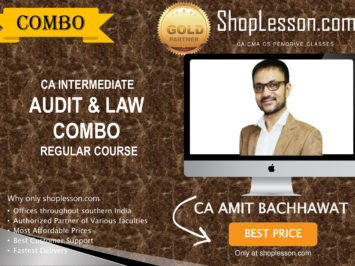 CA Intermediate Audit And Law Combo Regular Course By Amit Bachhawat For Nov 2020 Onwards Video Lecture + Study Material