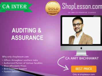 CA Intermediate Audit Regular Course By Amit Bachhawat For Nov 2020 Onwards Video Lecture + Study Material