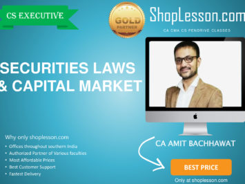 CS Executive New Syllabus Securities Law And Capital Market Regular Course By Amit Bachhawat For Dec 2020 Video Lecture + Study Material