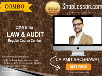 CMA Inter – Law And Audit Regular Course Combo By CA Amit Bachhawat For Dec 2020 Video Lecture + Study Material