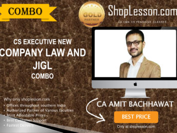 CS Executive New Syllabus Company Law And JIGL Combo By CA Amit Bachhawat For Dec 2020 Video Lecture + Study Material