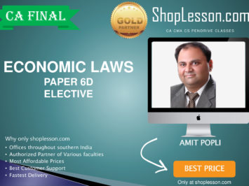 CA Final New Syllabus Paper 6D Economic Laws ELECTIVE PAPER Regular By CA Amit Popli For May 2020 & Nov 2020 Video Lecture + Study Material