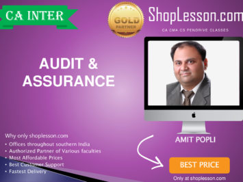 CA Intermediate Audit and Assurance Regular Course By CA Amit Popli For Nov 2020 Onwards Video Lecture + Study Material