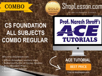 CS Foundation – All Subject Combo Regular Course By Ace Tutorial For Dec 2020 Video Lecture + E-Book