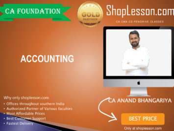 CA Foundation Accounting By CA Anand Bhangariya For Nov 2020 Onwards Video Lecture + Study Material