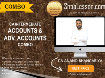 CA Intermediate Accounts & Adv. Accounts Combo By CA Anand Bhangariya For Nov 2020 Onwards Video Lecture + Study Material