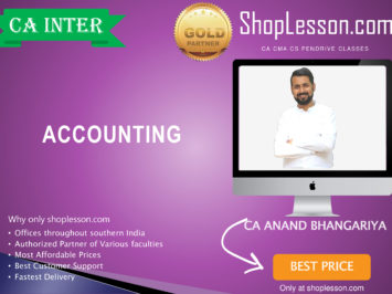 CA Intermediate Accounts (G 1 Live Batch Lectures Regular Course By CA Anand Bhangariya For Nov 2020 Onwards Video Lecture + Study Material