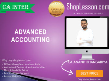 CA Intermediate Advance Accounting By CA Anand Bhangariya For Nov 2020 Onwards Video Lecture + Study Material