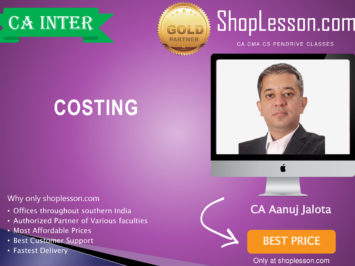 CA Intermediate Costing Regular Course By CA Anuj Jalota For Nov 2020 Onwards Video Lecture + Study Material