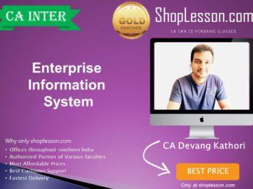 CA Inter EIS (Enterprise Information System) for For May & November 2020 By CA Devang Kothari