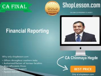 CA FINAL -May/Nov 20, Financial Reporting By CA Chinmaya Hegde Regular Downloadble
