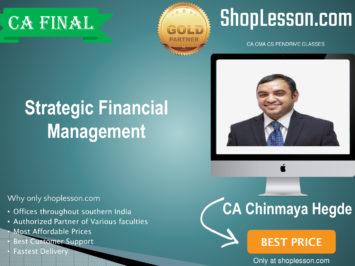 CA FINAL May/Nov 20, Strategic Financial Management By CA Chinmaya Hegde Regular USB/Pen Drive