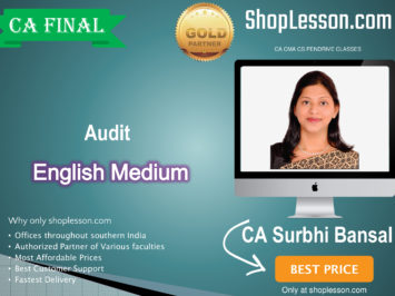 CA Final Audit In English New Syllabus Regular Course : Video Lecture + Study Material By CA Surbhi Bansal (For Nov. 2020 & For May 21)