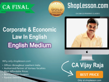 CA Final Corporate & Economic Law New Syllabus In English Regular Course : Video Lecture + Study Material By CA Vijay Raja (For Nov. 2020 & For May 2021)