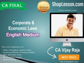 CA Final Corporate & Economic Laws for For May & November 2020 By CA Vijay Raja (New Syllabus)