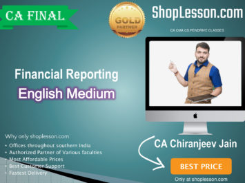 CA Final Financial Reporting (2 Views) In English Full Course : Video Lecture + Study Material By CA Chiranjeev Jain (For Nov. 2020 & Onwards)
