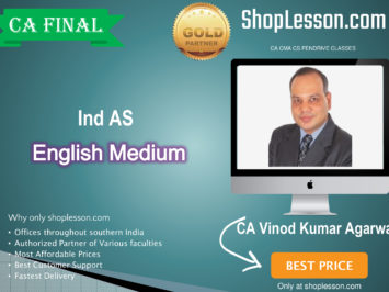 CA Final Ind As New Syllabus 1.2 Views In English Regular Batch : Video Lecture + E Book By CA Vinod Kumar Agarwal (For For May 20 & Nov. 20 )