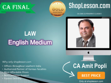 CA Final Law New Syllabus In English Regular Course : Video Lecture + Study Material By CA Amit Popli (For For May 2020 & Nov. 2020)