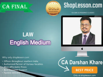 CA Final Law Regular Course New Recording In English : Video Lecture + Study Material By CA Darshan Khare (For For May 2020 & Nov. 2020)