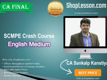 CA Final SCMPE (Costing New) Crash Course In English : Video Lecture + Study Material By CA Sankalp Kanstiya (For For May 2020)
