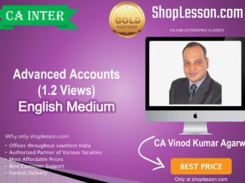 CA Inter Advanced Accounts 1.2 Views In English New Recording Regular Course : Video Lecture + E Book By CA Vinod Kumar Agarwal (For Nov. 2020 & Onwards)