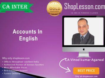 CA Inter Accounts Regular Batch in English New Syllabus by CA Vinod Kumar Agarwal